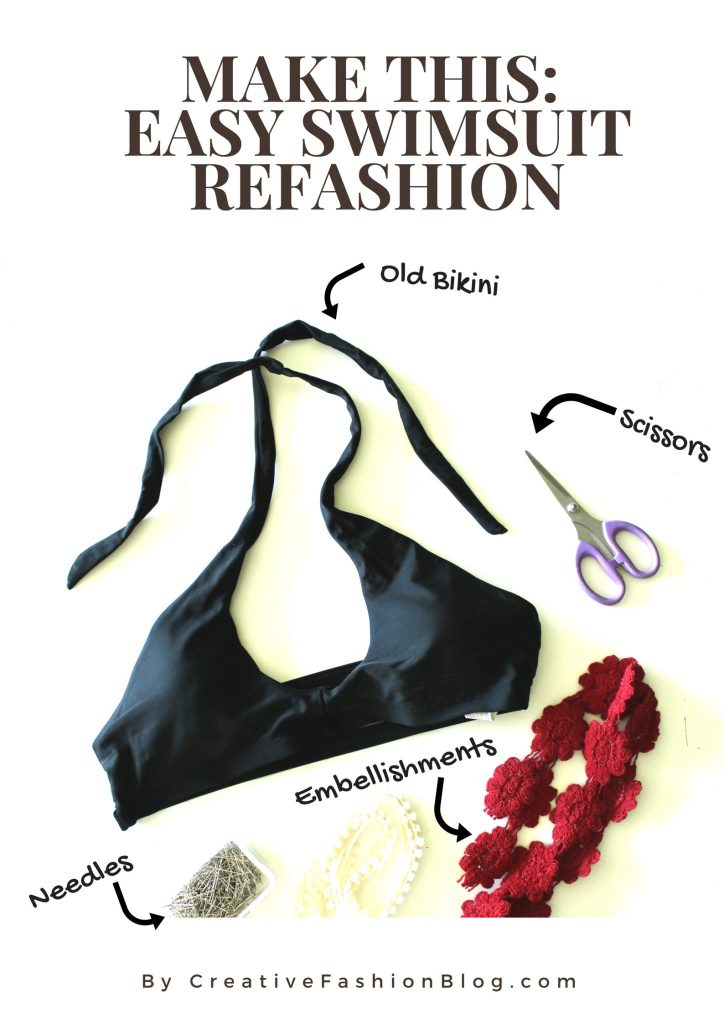 Swimsuit refashion easy DIY idea......