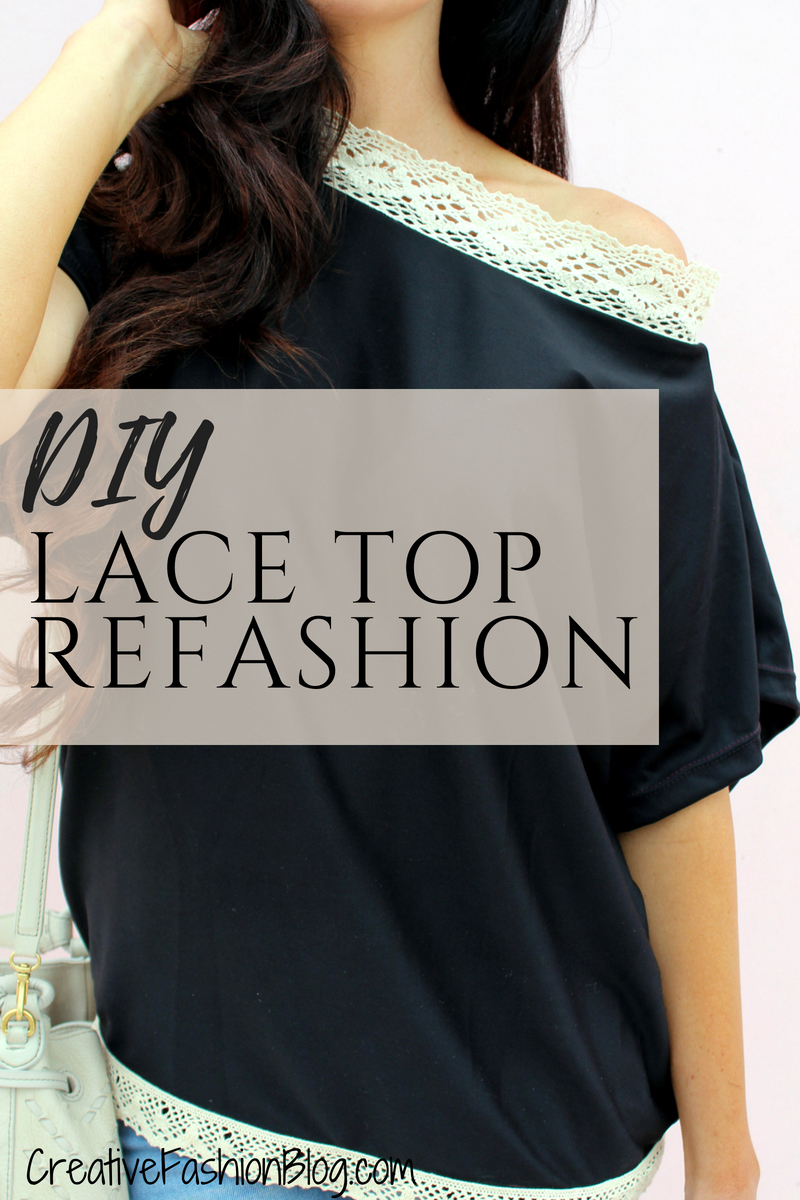 diy refashion shirt tutorials with easy sew on lace embellishments