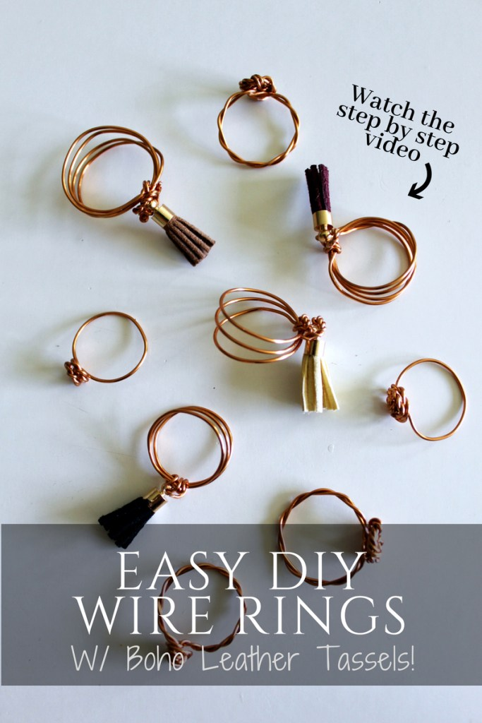 simple diy ring tutorial . easy wire jewelry with boho tassels .