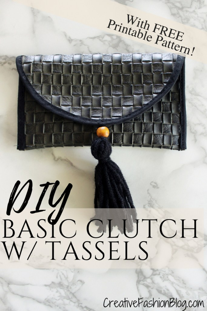 DIY Basic Clutch sunglasses holder with FREE pdf printable pattern ..