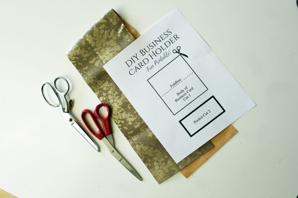 DIY faux suede Business card Holder..