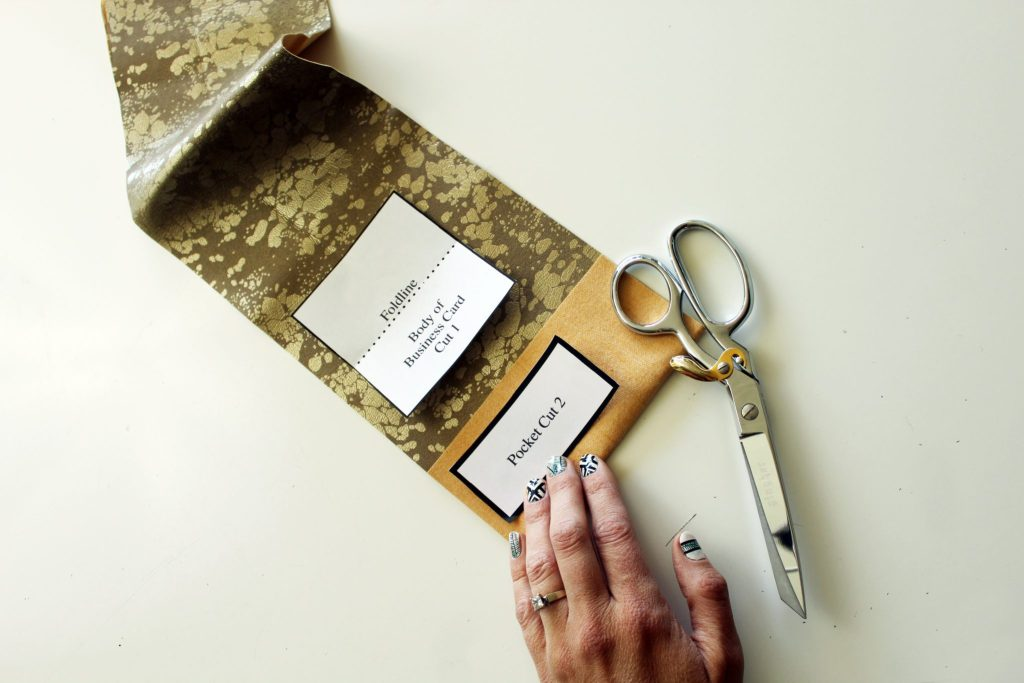 DIY faux suede Business card Holder