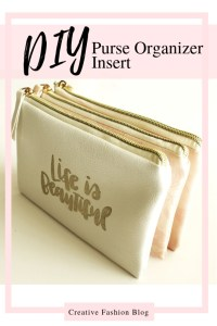 DIY purse organizer insert tutorial