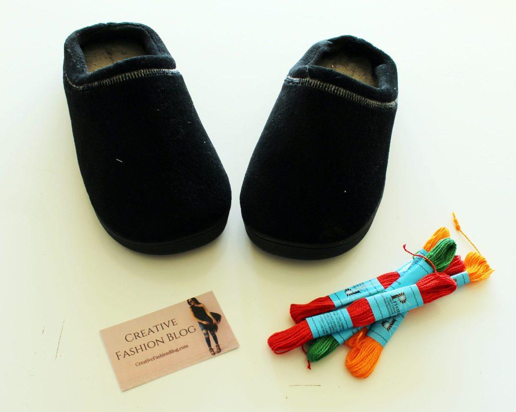 Easy DIY Slippers Tutorial with Tassels supplies
