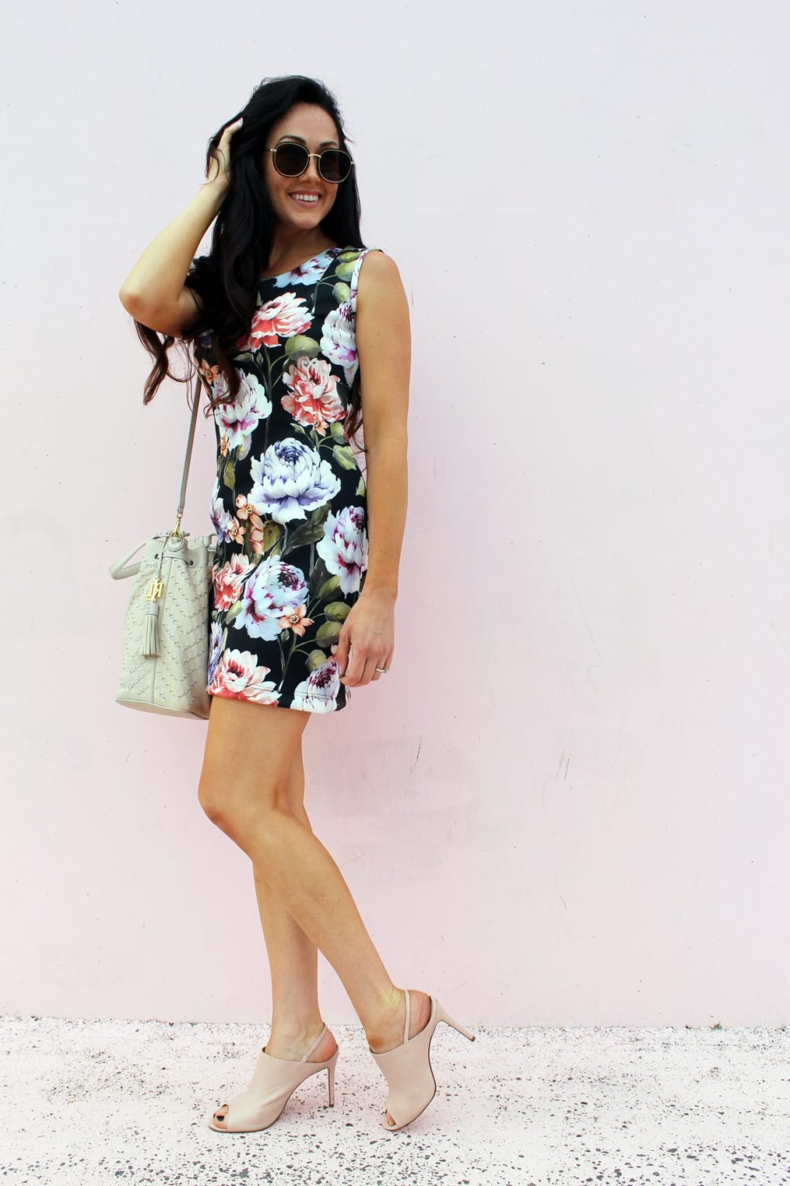 how to make a DIY Floral Scuba Dress yourself