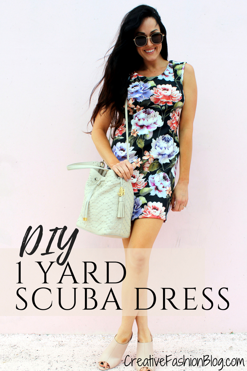 how to make a simple DIY Floral Scuba Dress yourself