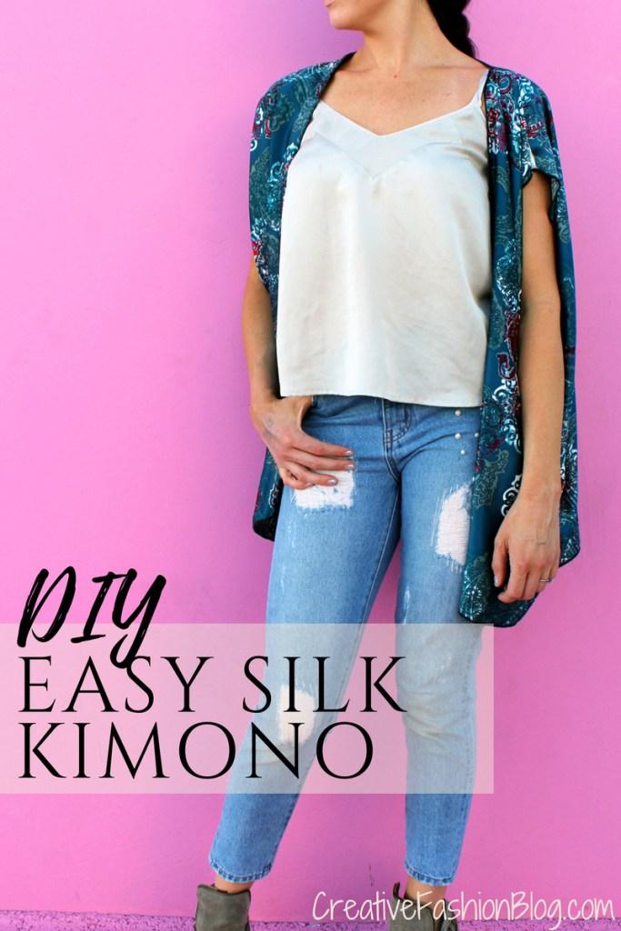 how to make an easy DIY kimono sew ..