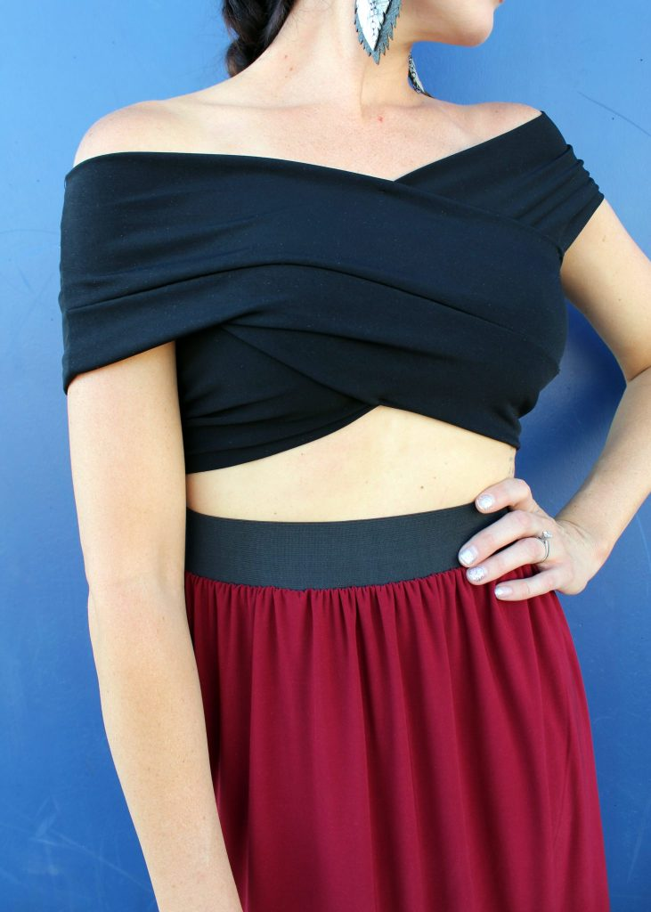 how to make an easy criss-cross crop top shirt