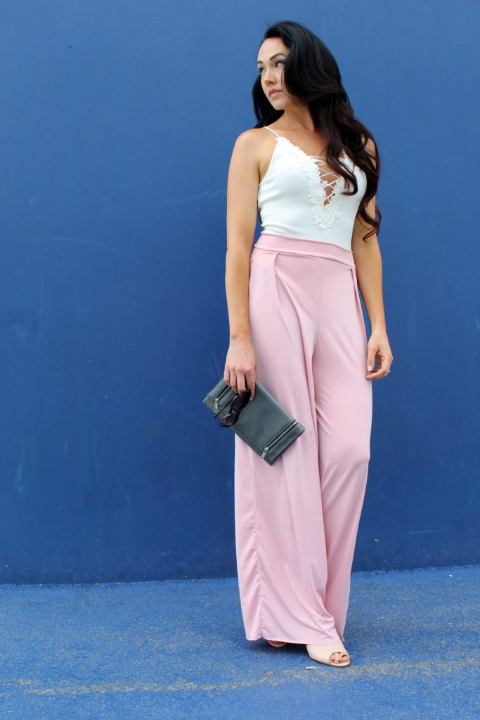 how to make easy DIY high waist wide leg palazzo pants .