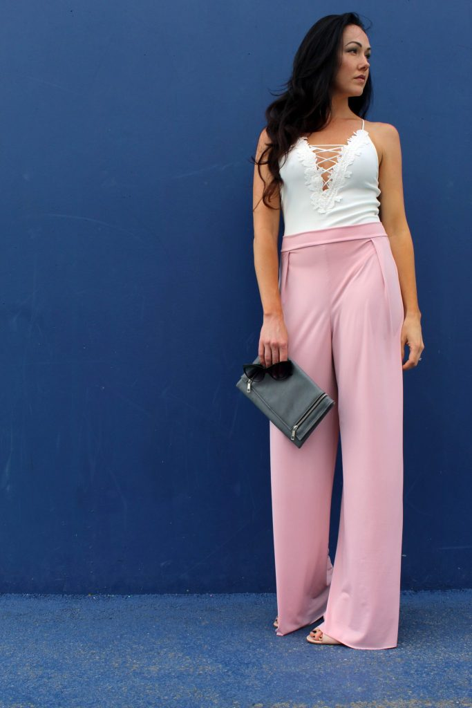 how to make easy DIY high waist wide leg palazzo pants