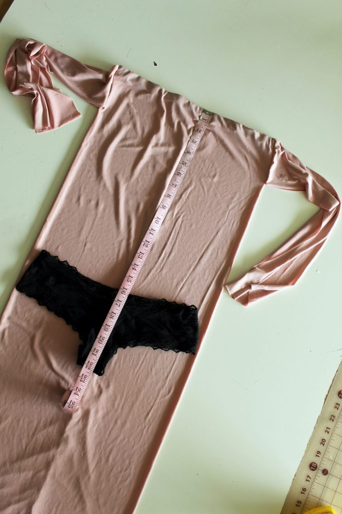 How to make a DIY bodysuit from an old dress or shirt . A Refashion tutorial...