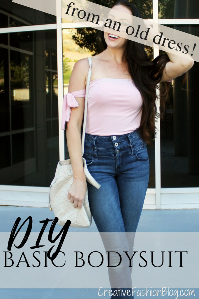 How to make a DIY bodysuit from an old dress or shirt A quick and easy Refashion tutorial...