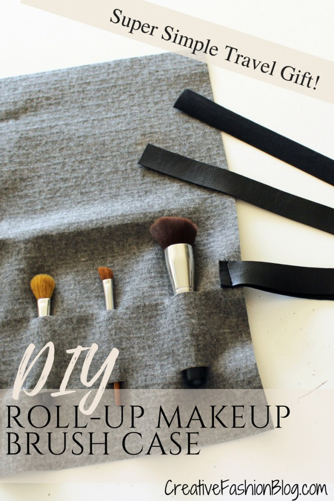 How to make a Roll Up DIY Makeup Brush Holder For Travel