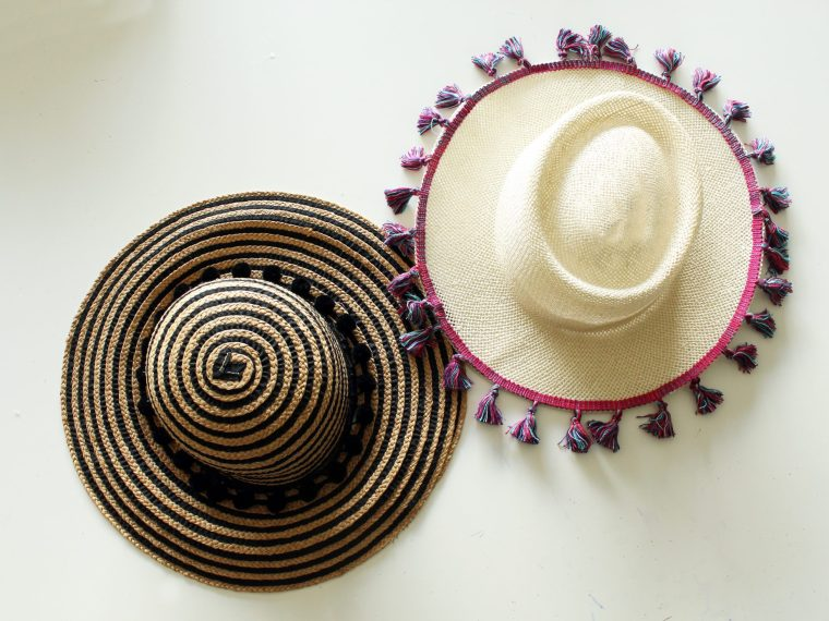 How to make a fun DIY summer hat for women . Easy no sew project!!