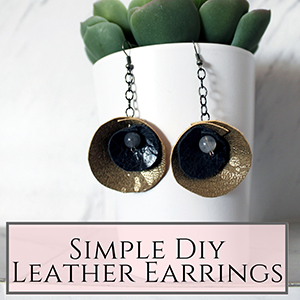circular leather earrings