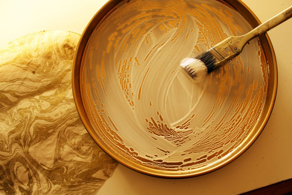 DIY Gold and Marble Tray With Marble Paper ..
