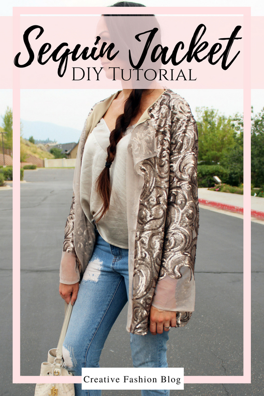 How to make a DIY Sequin Jacket Cardigan full sewing tutorial ....
