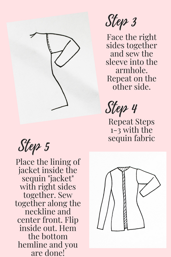 How to make a Sequin Jacket cardigan Instructions page 3