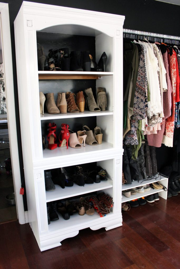 How To Make A Diy Closet From A Bookshelf For Less Than 100
