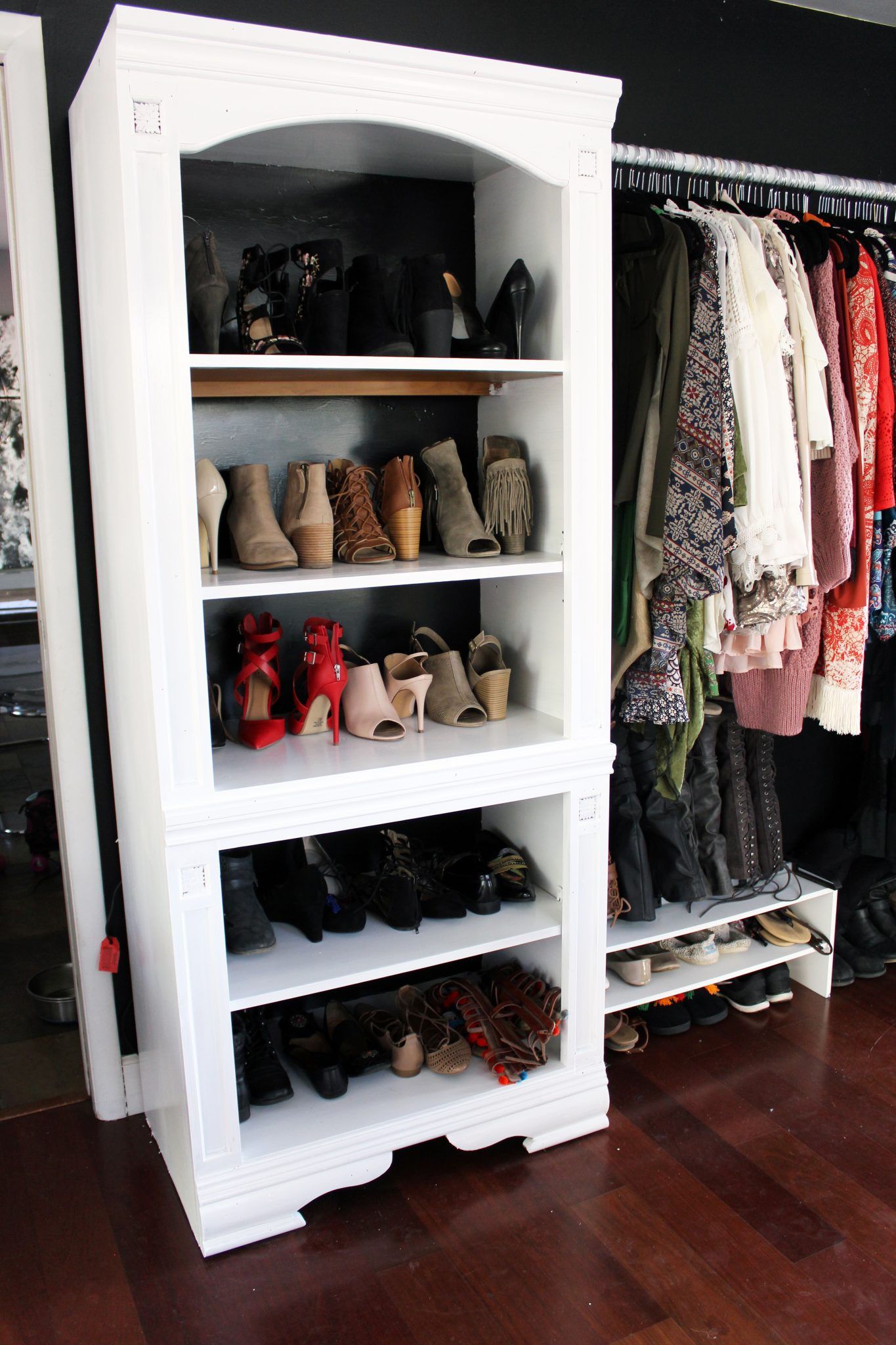 Make Your Own Closet. How To Make A Closet From An Old Bookcase. Click  Through For The Full DIY