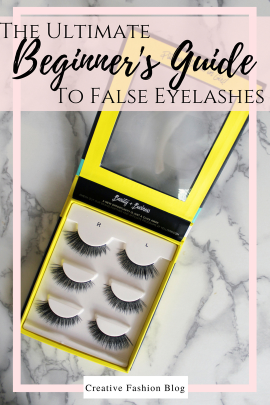 The Ultimate Beginners Guide To False eyelashes. This eyelash set by Yelloow The best eyelashes and exactly how to put them on video tutorial