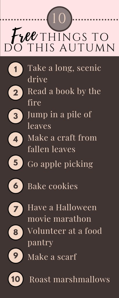 10 free things to do for autumn . Fall Bucket List ideas