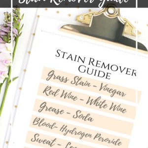 Free Printable laundry care cheat sheet stain remover guide