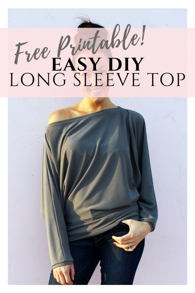 How to make a simple DIY long sleeve batwing sleeve shirt