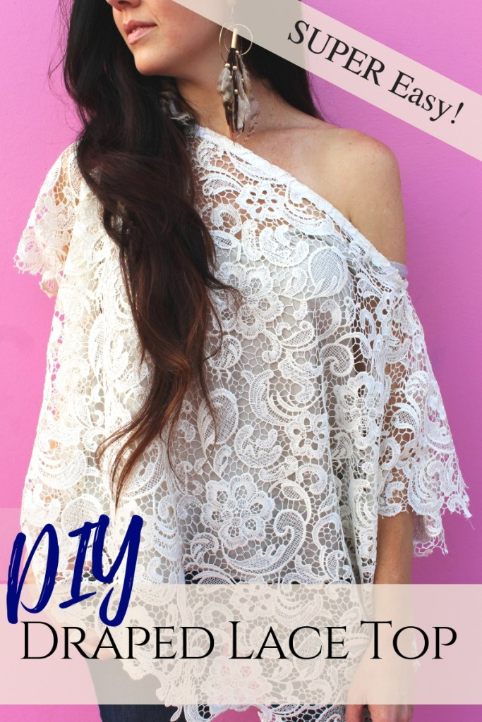 How to make an easy DIY lace shirt with this simple fashion clothing beginner sewing tutorial