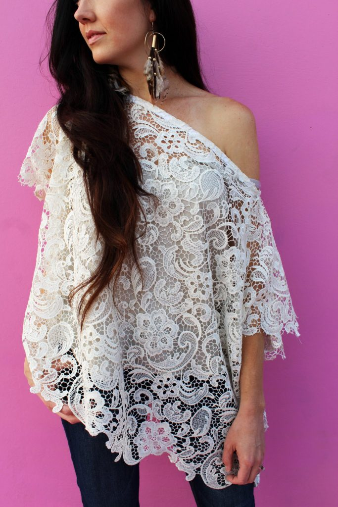 How to make an easy DIY lace shirt with this simple fashion clothing tutorial