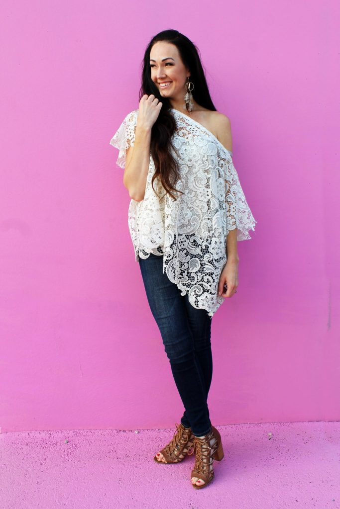 How to make an easy DIY lace shirt with this simple fashion top clothing tutorial..