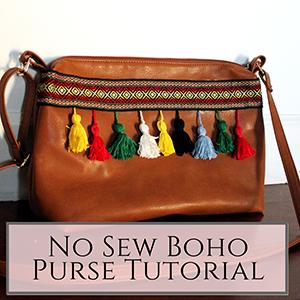 boho purse makeoever