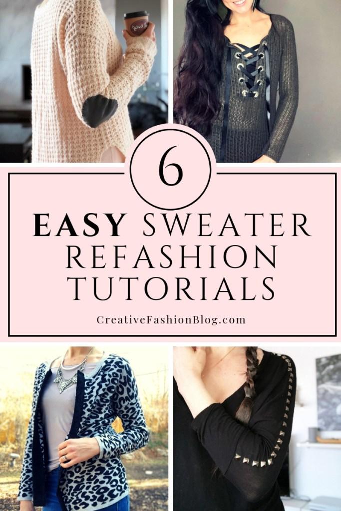 e4c4471b3a 6 Easy DIY Sweater Refashion Tutorials - Creative Fashion Blog