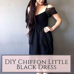 DIY chiffon little black dress
