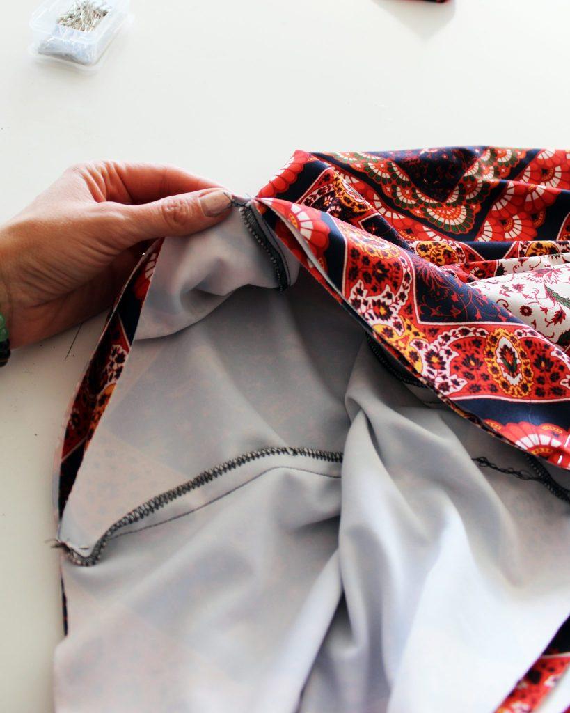 DIY drawstring printed palazzo pants ..