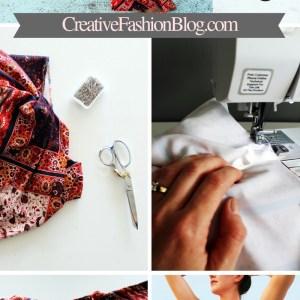 DIY drawstring printed palazzo pants beginner sewing tutorial....