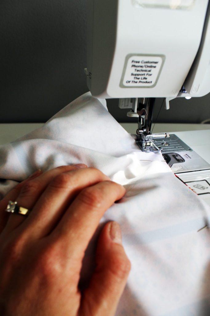 DIY drawstring printed palazzo pants tutorial sewing
