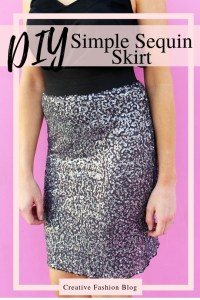 How to make an easy DIY sequin pencil skirt in just 5 simple steps