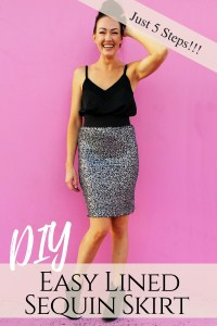 How to make an easy DIY sequin pencil skirt in just 5 steps