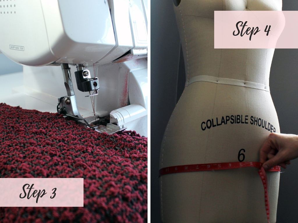 Step 3 How to make an easy lined sequin skirt. Full tutorial for the beginner