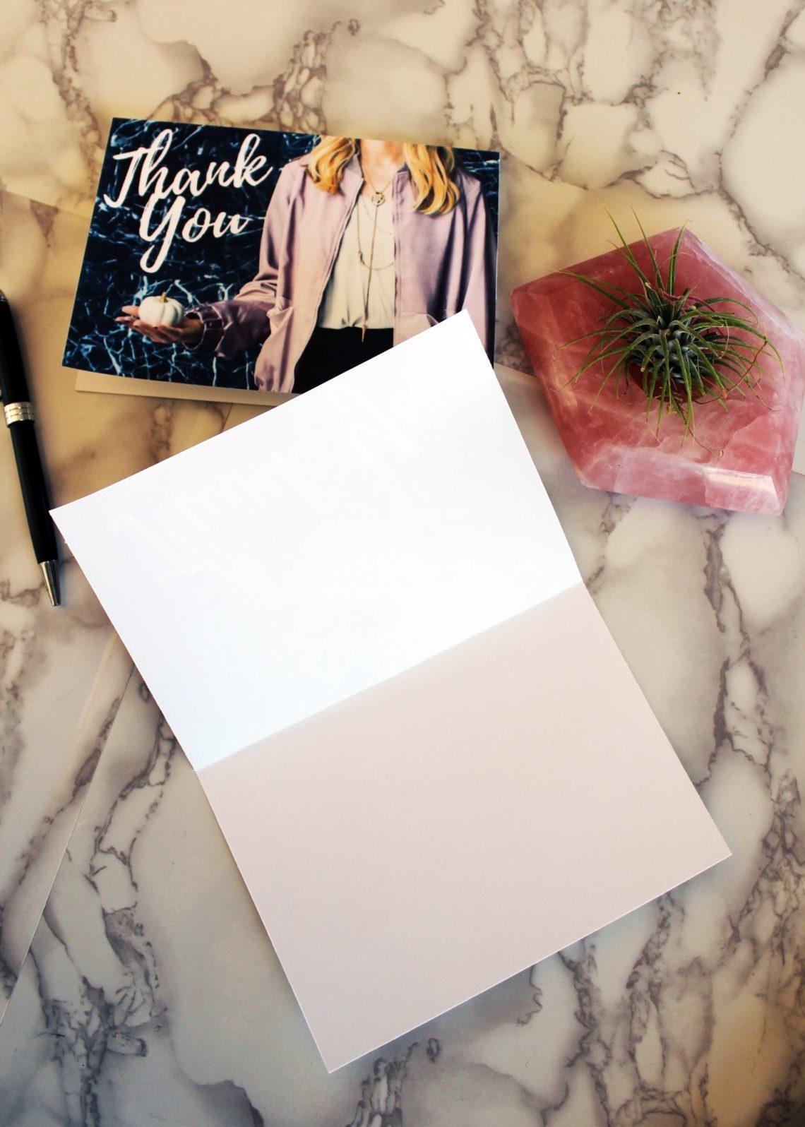 FREE printable Autumn Blank Thank You cards
