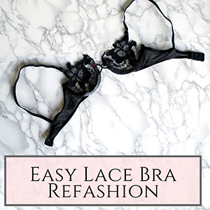 lace bra refashion
