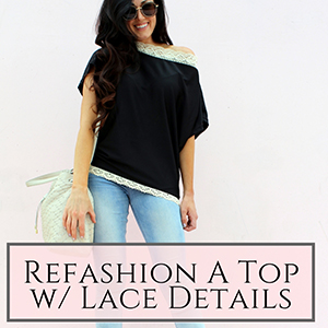 refashion with lace top