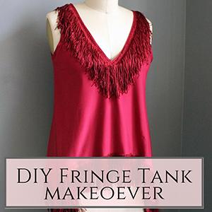 tank top fringe makeoever