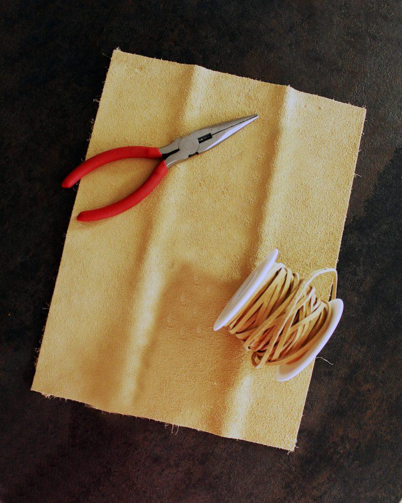 DIY leather teardrop earrings