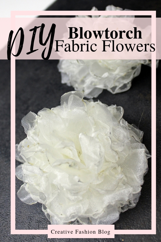 How to make DIY fabric flowers using silk and a blow torch. Easy Roses and peonies tutorial