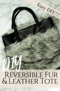 How to make a DIY reversible tote with fur and leather from scratch
