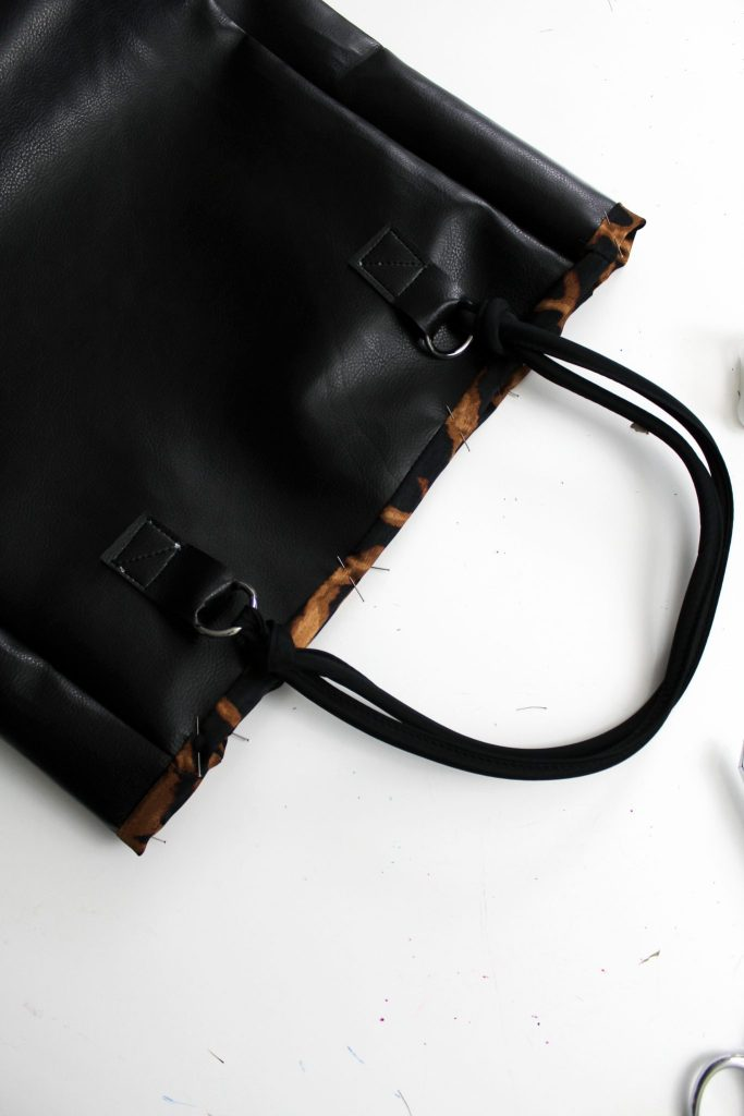 How to make a lined diy leather tote bag purse