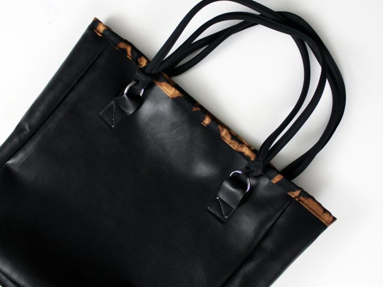 How to make a lined diy leather tote bag