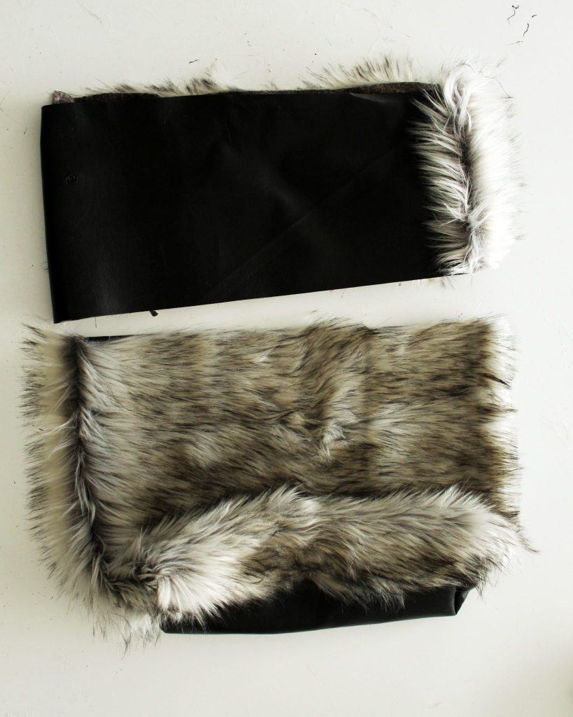 How to make a reversable tote with fur and leather
